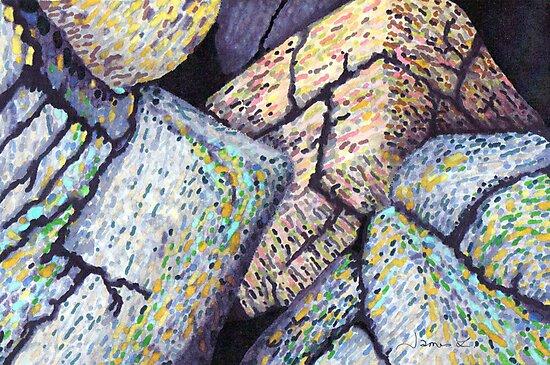 Colorful Boulders * by James Lewis Hamilton