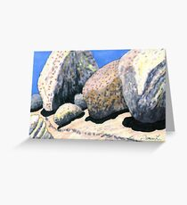 c12-A Row of Boulder Personalities  Greeting Card