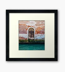 While in Venice Framed Print