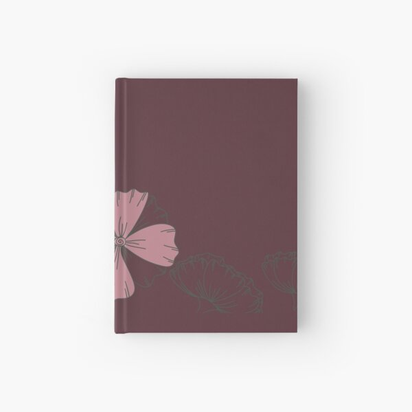 Floral Butterfly Collection Spring Seamless Border Surface Pattern Hardcover Journal