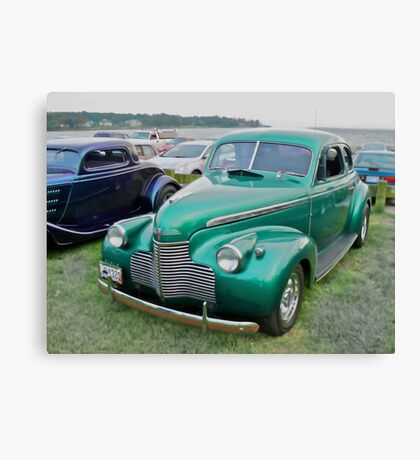 1940 Chevy Coupe - Oakland Beach Cruise Night Canvas Print