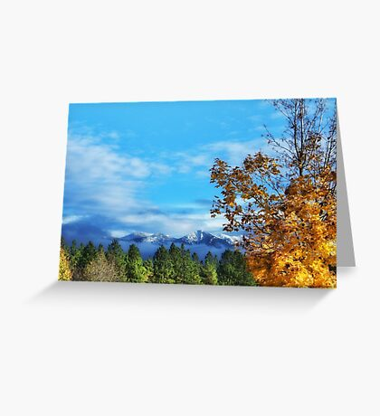 The End of Indian Summer Greeting Card