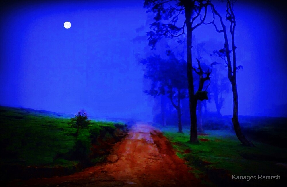 Moonlit Night - An Ode to Night (please see description) by Kanages Ramesh