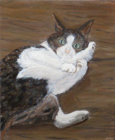 Concern - cat portrait by Nicla Rossini