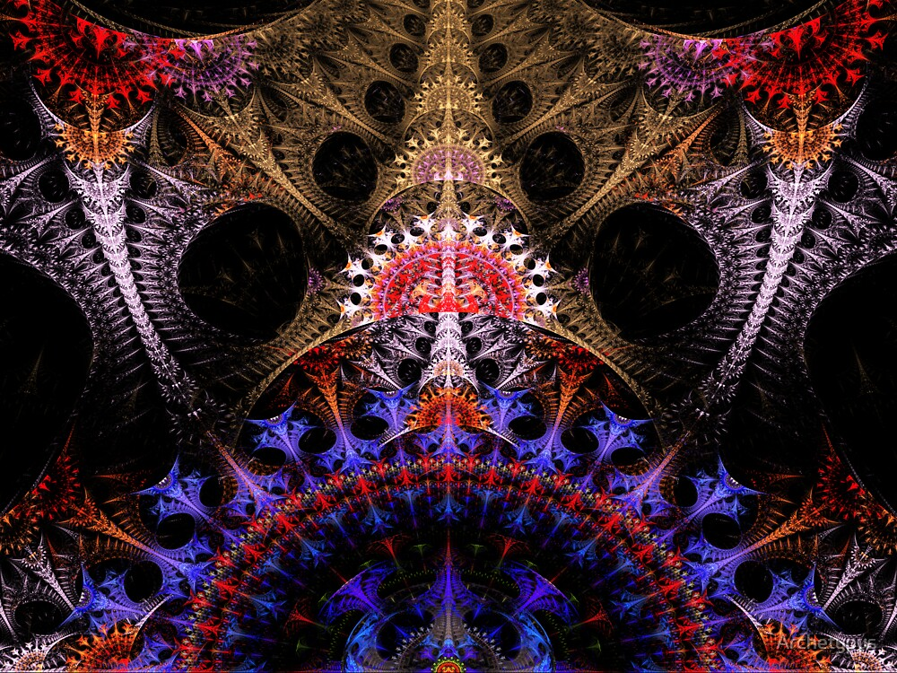Coronation Abstract Fractal by Archetypus