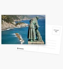Statue of Saint Francis of Assisi petting a dog  Postcards