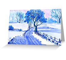 Country Lane, Bonsall, Derbyshire Greeting Card