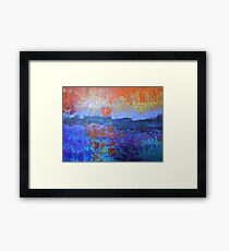 seascape-color in my heart Framed Print