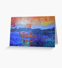 seascape-color in my heart Greeting Card