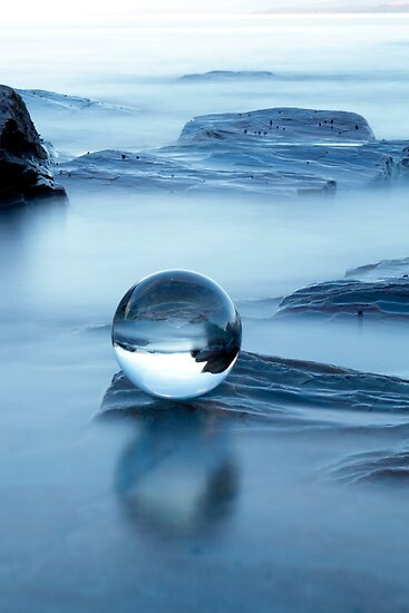 Blue chrystal by Frank Olsen