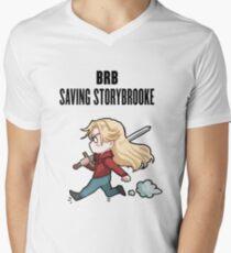 BRB - saving storybrooke Men's V-Neck T-Shirt