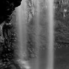 Trentham Falls in Black and White by Lozzar Landscape