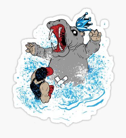 wrong Hippo Sticker