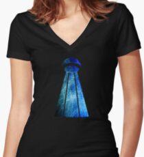 Nikola Tesla Women's Fitted V-Neck T-Shirt