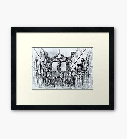The Ruins of Kirkstall Abbey Framed Print