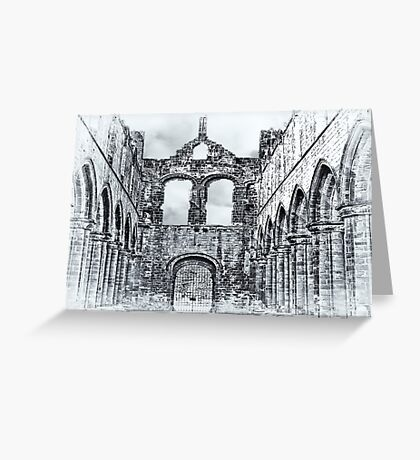 The Ruins of Kirkstall Abbey Greeting Card
