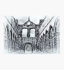 The Ruins of Kirkstall Abbey Photographic Print