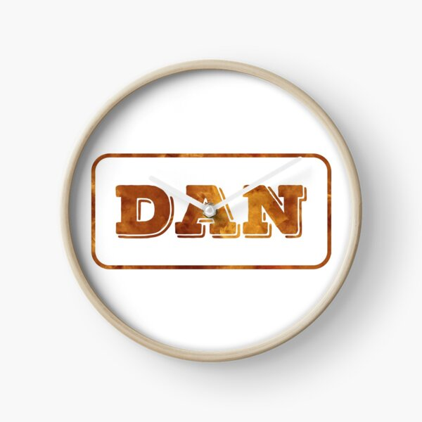Dan - Red Smoke Edition Clock