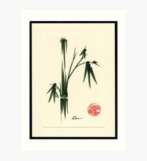 """She Walks in Beauty"" Huntington Gardens Plein Air Ladybug Art Print"