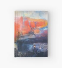 Blue Red Abstract  Hardcover Journal
