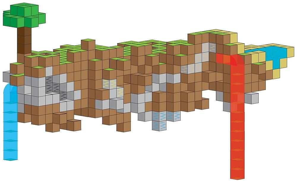 Minecraft Illustration by Jamalamalamajam