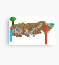 Minecraft Illustration Canvas Print