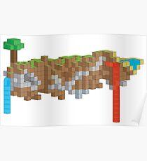 Minecraft Illustration Poster