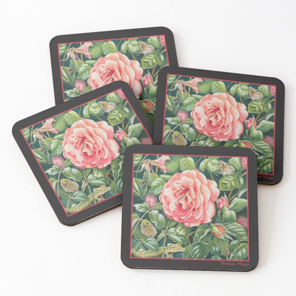 Umbrian Rose Coasters (Set of 4)