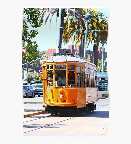 Number 1856 - Milan Streetcar in San Francisco  Poster