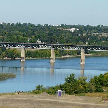 Saskatchewan River,Saskatoon Sask,Canada by MaeBelle
