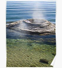 The Fishing Cone, Steaming on Yellowstone Lake Poster