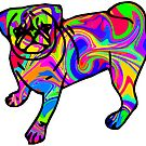 Colorful Pug by ChrisButler