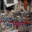 French market sausage seller, Eymet by graceloves