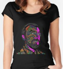 Psychedelic krieger Women's Fitted Scoop T-Shirt