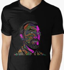 Psychedelic krieger Men's V-Neck T-Shirt