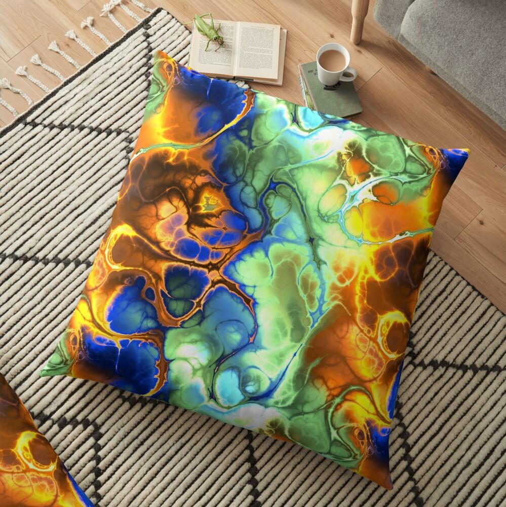 Digital art,fractal,mix of colors Floor Pillow