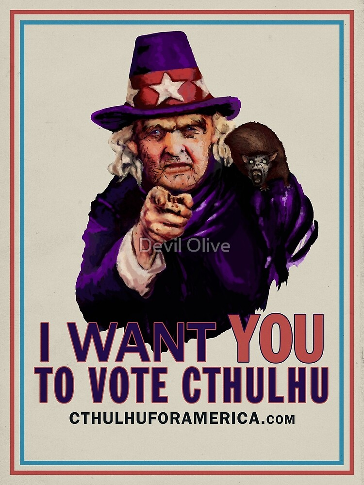 Aunt Keziah: Vote Cthulhu for President by Devil Olive