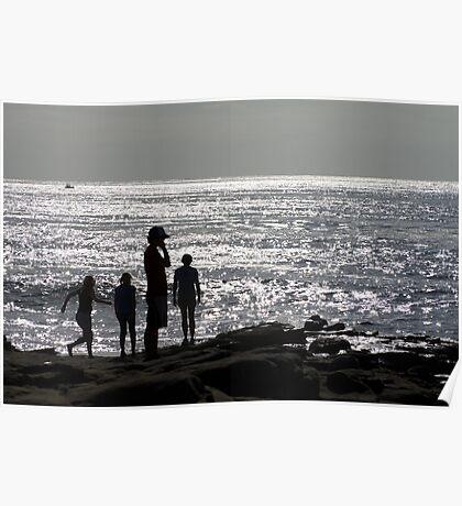 La Jolla Silhouette Poster
