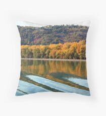 Autumn along the Rhone Throw Pillow