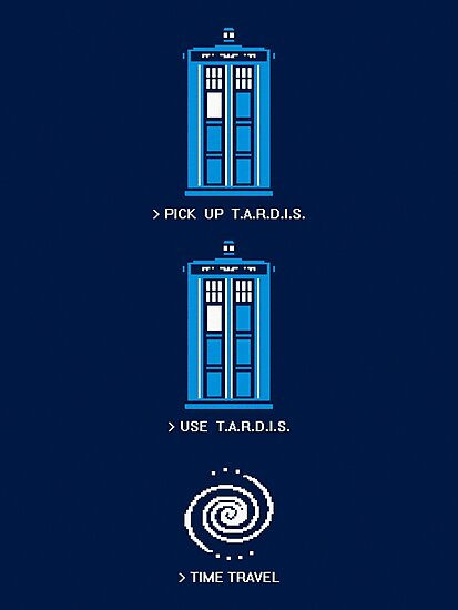 8-Bit Tardis - Doctor Who Shirt by BootsBoots