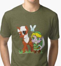 The Legend of Zeldestia (no text version) Tri-blend T-Shirt