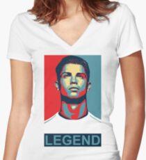 Ronaldo Women's Fitted V-Neck T-Shirt