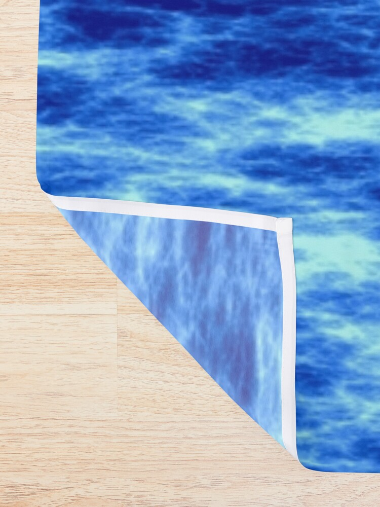 Alternate view of Blue energy Shower Curtain