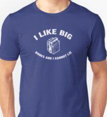 I Like Big Books - Baby Got Books - Vintage Unisex T-Shirt
