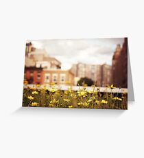 Flowers Along the High Line - New York City Greeting Card