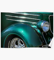 Hot Chrome and Metallic Green Poster