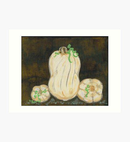 White Pumpkins I Art Print