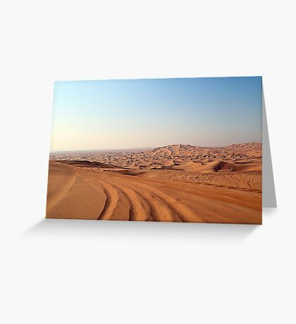 Desert Tracks Greeting Card