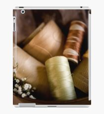 Antique Sewing Thread iPad Case/Skin
