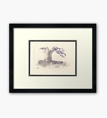 """Morning Mist""   Sumi e wash painting Framed Print"